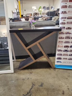 Samantha Console Table, Espresso and Dark Taupe for Sale in Santa Fe Springs, CA