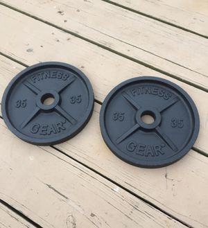 35 pound Olympic metal weights for Sale in Philadelphia, PA