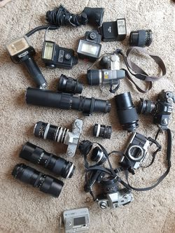 Camera equipment. Some cameras come with cases. Black. for Sale in Layton,  UT