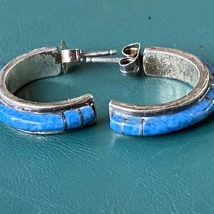Sterling And Denim Lapis Crescent Earrings for Sale in Ponte Vedra Beach, FL