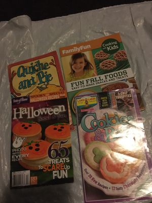 Four cookies Bars and pies one holloween cake books for Sale in North Las Vegas, NV