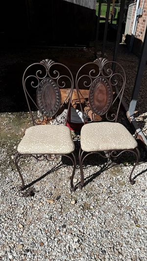 Refurbished antique rod iron chairs for Sale in Denham Springs, LA