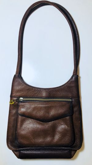 Sonoma Jean Company Brown Leather Double Handle Women's Brown Shoulder Bag Purse for Sale in Crofton, MD