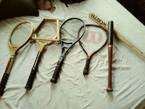 Baseball bats and rackets sets of every size for Sale in St. Louis, MO