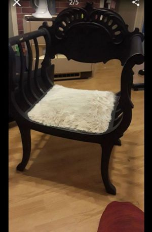 Antique Victorian black Royal chair for Sale in Tiverton, RI