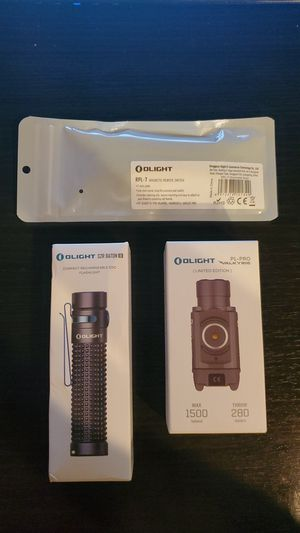 Olight PL-Pro Valkyrie (Limited Edition), picatinny magnetic switch and S2R baton II for Sale in Los Angeles, CA