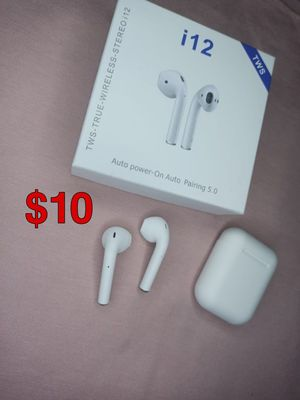 i12 TWS White Wireless Earbuds Headphones for Sale in Carrollton, TX