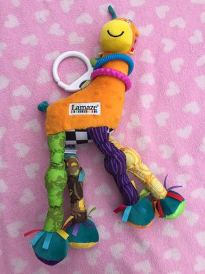Lamaze yellow purple green giraffe stroller car seat toy for Sale in South Floral Park, NY