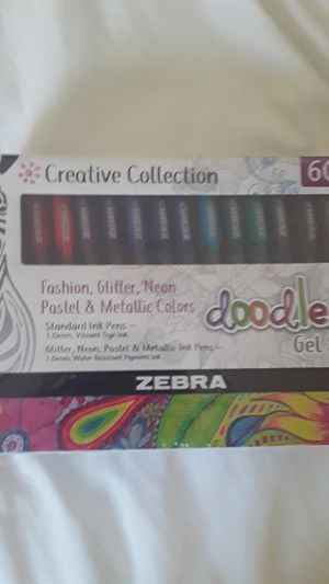 Zebra creative collection 60 count gel stick for Sale in Denver, CO