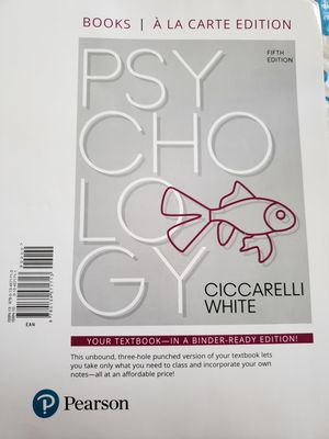 Psychology Ciccarelli 5th edition NEW UNUSED for Sale in Bartlett, IL