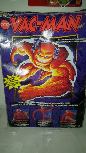 Vintage 1994 Cap toys VAC-MAN stretch Armstrong stretch enemy action figure for Sale in Brooklyn, NY