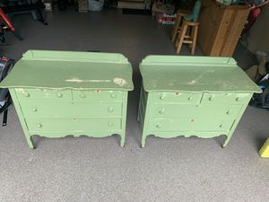 Antique Shabby Chic Dressers - Set of 2 for Sale in East Jordan, MI