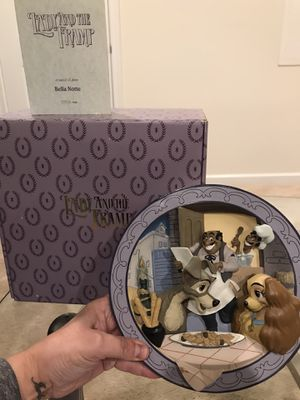 Disney Collectible LADY AND THE TRAMP Rare 3D plate for Sale in Plainfield, IL