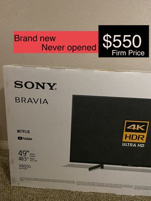 "New TV 49"" 4K HDR Ultra HD Sony X800G Bravia for Sale in Norwalk, CA"