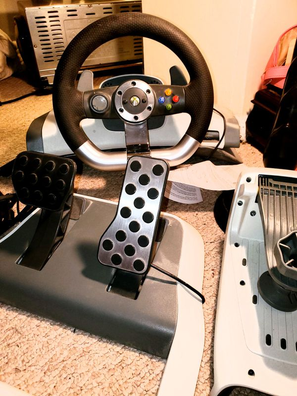 We have a Microsoft Xbox 360 Steering wheel and pedals