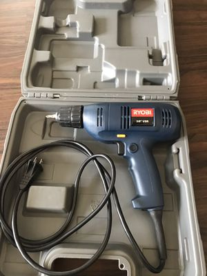 """Ryobi 3/8"""" VSR Electric Drill with case for Sale in Los Angeles, CA"""