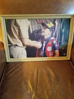 Boy Scout Cub Scout photographic framed picture for Sale in Houston, TX