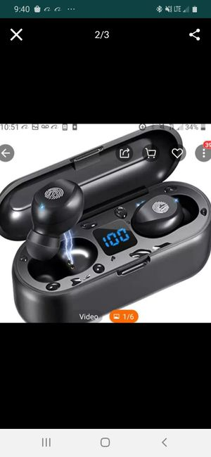Wireless earbuds touch plus power bank for Sale in Portland, OR