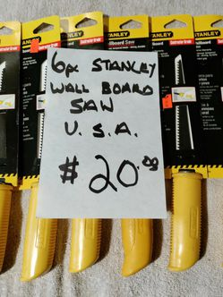 6 Pc. Stanley Drywall Saw for Sale in Kent,  WA