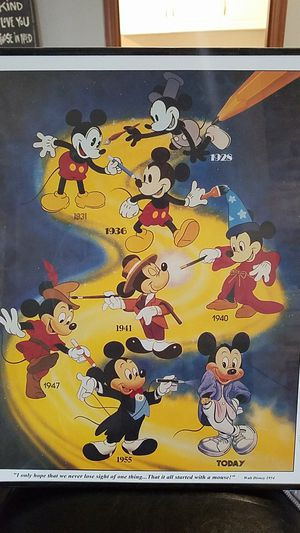 Disney Mickey Picture for Sale in BETHEL, WA