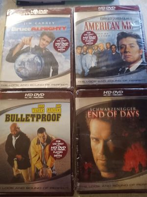 4 Brand new HD dvds.. Plastic still on them. for Sale in Hodges, SC