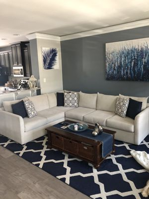 Trisha Yearwood Georgia Rain Sectional with Coffee Table for Sale in Sewell, NJ