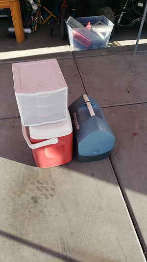 2 coolers and 3 port bin for Sale in Phoenix, AZ