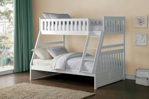 Galen White Twin/Full Bunk Bed | B2053 for Sale in Austin, TX
