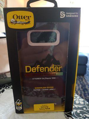 OTTERBOX DEFENDER CASE FOR NOTE 8 PURPLE W BLACK CLIP for Sale in Delray Beach, FL