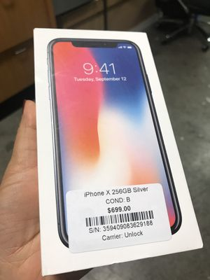 iPhone X 256GB unlocked financing available for Sale in Las Vegas, NV