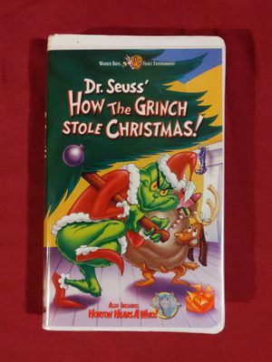 VHS dr. seuss How the Grinch Stole Christmas for Sale in Portland, MI