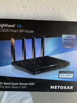 NETGEAR Nighthawk X8 AC5000 Tri-band WiFi Router for Sale in Plano,  TX