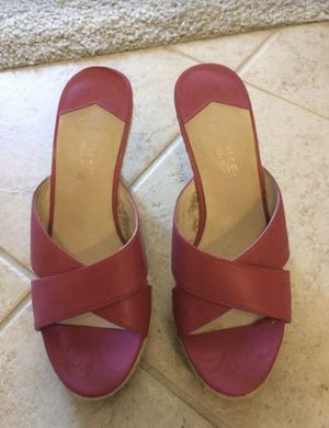 Michael Kors high heels pump wedges size 7 pink for Sale in Lake Forest, CA