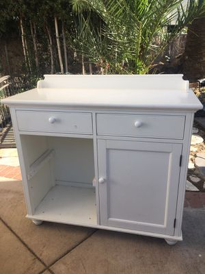 White wood tv stand or changing table - crate & barrel for Sale in San Diego, CA