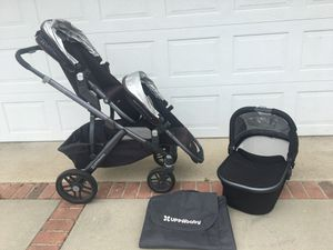 Uppababy vista double stroller with bassinet for Sale in La Habra, CA