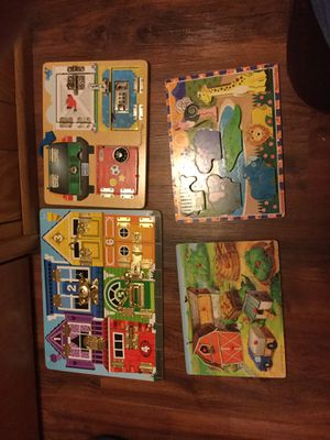 Toys, Melissa and Doug puzzles, blocks, and game. for Sale in Mesa, AZ