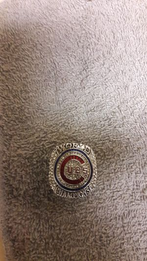 2016 fans souvenir Cubs world championship ring silver and labs diamonds for Sale in Portland, OR