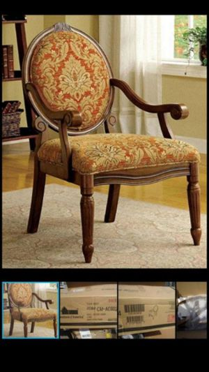 ***BRAND NEW, IN BOX*** GORGEOUS Accent Chair with an Antique Oak Finish **SOLID WOOD** Retails @ $290 & more + tax!! 🙂ONLY $80, firm👍 for Sale in Glendale, AZ