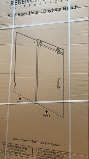 "Double glass doors with hardware 60""x79"" for Sale in Kissimmee, FL"