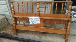 Solid maple full size bed frame for Sale in Clinton, WI