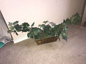 Fake Ivy plants with wicker basket for Sale in San Antonio, TX