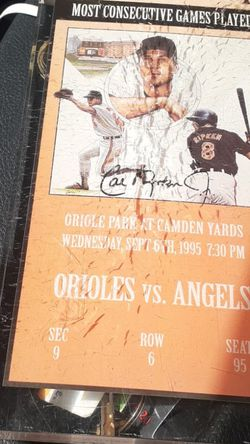 Orioles Vs Angels 1995 Coleccionable for Sale in Miami,  FL