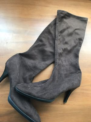 Beautifully compact knee high flax suede boots for Sale in Silver Spring, MD