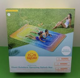 Sun Squad Giant Rainbow Spraying Splash Mat With Built In Sprinklers 9 Feet Long for Sale in San Mateo,  CA