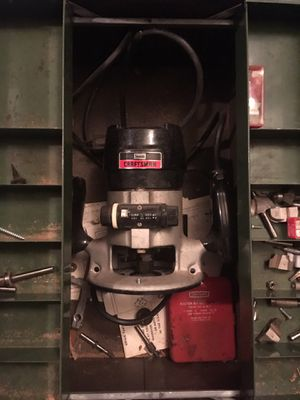 Craftsman router with assorted bits for Sale in Marysville, WA
