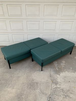 Genuine Leather Seating Bench Ottoman Couch Sofas Custom Made for Sale in Calimesa, CA