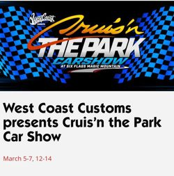Cruisn in the park at 6 flags magic mountain for Sale in Burbank,  CA