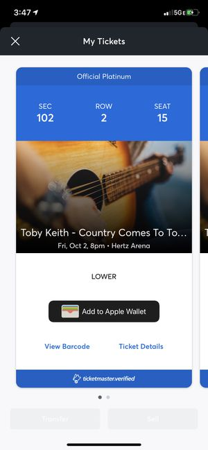 Toby Keith tickets for Sale in Hudson, FL