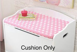 Brand New In Box!! Austin Toy Box Cushion White/Pink Polka Dots KidKraft 14111 for Sale in Litchfield Park, AZ