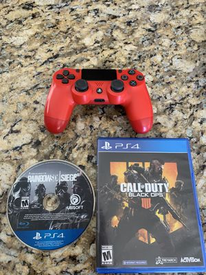 PS4 Games & Red Dual Shock Controller for Sale in Tulare, CA